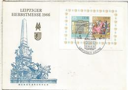ALEMANIA DDR LEIPZIG FDC  HERESTMESSE 1986 - Profesiones