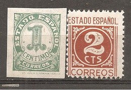 España/Spain-(MH/*) - Edifil  814-15 - Yvert 576-77 - 1931-50 Neufs