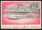 ITALIA  - ITALY - ITALIE - 03/02/1956 - CORTINA - GIOCHI OLIMPICI INVERNALI DI CORTINA - BOBSLEIGH - ANNULLO - Winter 1956: Cortina D'Ampezzo
