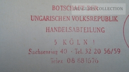 D166019  Germany  -EMA- Freistempel -METER STAMP- Botschaft Der Ungarischen Volksrepublik Handelsabteilung KÖLN 1982 - [7] République Fédérale