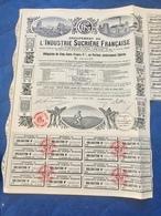 Groupement  De L' INDUSTRIE  SUCRIÈRE   FRANÇAISE------Obligation  De  500 Frs - Industrie