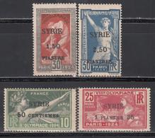 1924 Yvert Nº 122 / 125  MNH, MH, - Nuevos