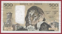 "500 Francs ""Pascal"" Du 05/07/1984.E----VF/SUP-----ALPH Z.209 - 1962-1997 ''Francs''"