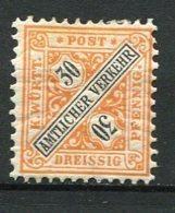 WURT - SE Yv. N° 19 MI. N° 215  *  25p  Orange Et Noir  Cote   2 Euro   BE   2 Scans - Wuerttemberg