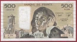 "500 Francs ""Pascal"" Du 03/04/1985.K----F/TTB+-----ALPH O.234 - 1962-1997 ''Francs''"