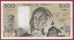 "500 Francs ""Pascal"" Du 03/01/1991.D----F/TTB+-----ALPH P.332 - 1962-1997 ''Francs''"