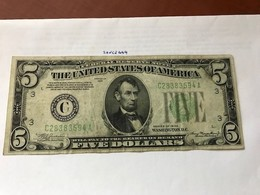 USA United States $ 5.00 Banknote  1934 - Valuta Nazionale