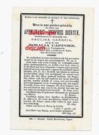 Doodsprentje Appolinaris Dierynck Voormezeele 1810 En Overleden Ieper 1891Garrein Cappoen Hollebeke Wijtschate Messines - Devotieprenten