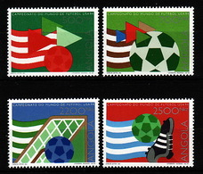 Angola, 1994, World Cup 4 Stamps - 1994 – Verenigde Staten
