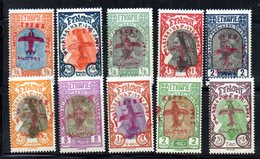 ETP291 - ETIOPIA 1929 ,  Posta Aerea Yvert  N. 1/10  *  Linguella  (2380A) - Etiopia