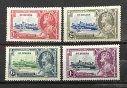 ST. HELENA # 111-114.  King George V Silver Jubilee. MLH (*) - Saint Helena Island