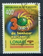 Ivory Coast, National Lottery, 400f, 2000, VFU - Ivory Coast (1960-...)