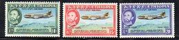 ETP294 - ETIOPIA 1955 ,  Posta Aerea Yvert  N. 35/37  *  Linguella (2380A) - Etiopia