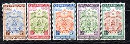 ETP295 - ETIOPIA 1956 ,  Posta Aerea Yvert  N. 38/42  *  Linguella (2380A)  Costituzione - Etiopia