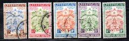 ETP296 - ETIOPIA 1956 ,  Posta Aerea Yvert  N. 38/42  Usata (2380A)  Costituzione - Etiopia