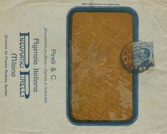 MICHETTI Cent.25,LETTERA ESTERO,1911,PNEUMATICI PIRELLI-MILANO, - Storia Postale