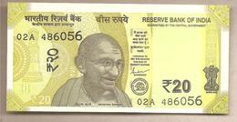 India  - Banconota Non Circolata FdS Da 20 Rupie P-110a - 2019 - India