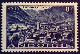 Andorre Andorra 1948 Andorre-la-vieille Andorra-la-vella Yvert 127 * MH - French Andorra