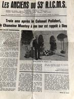 Les Anciens Du 53e R.I.C.M.S. De Mars 1972 - Journaux - Quotidiens