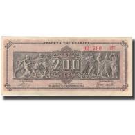Billet, Grèce, 200,000,000 Drachmai, 1944, KM:131a, SUP - Grèce