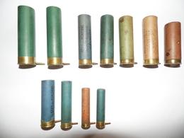 Lot De 11 Cartouches Et étuis à Broches De Différents Calibres. - Decorative Weapons