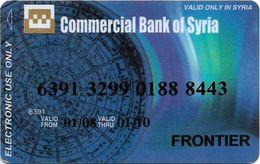 Commercial Bank Of Syria, Syrian Bank Card - Krediet Kaarten (vervaldatum Min. 10 Jaar)