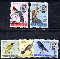 ETP205 - ETIOPIA 1963,  Posta Aerea Yvert  N. 74/78  Usati (2380A)  Uccelli - Etiopia
