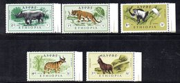 ETP210 - ETIOPIA 1966, Posta Aerea  Yvert  N. 99/103  Serie *** MNH  (2380A) - Ethiopia