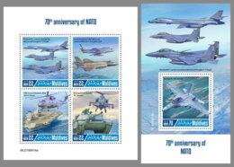 MALDIVES 2019 MNH 70 Years NATO 70 Jahre NATO 70 Ans De OTAN M/S+S/S - OFFICIAL ISSUE - DH1930 - NATO