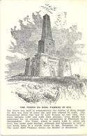 ARTIST SKETCH OF THE TOWER ON MOEL FAMMAU IN 1812 - WALES - Denbighshire