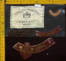 Etichetta Vino Liquore Champagne Cuvèe Krug & Co. Brut - Francia (difetto) - Etichette