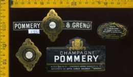 Etichetta Vino Liquore Champagne Pommery & Greno Brut - Francia - Etichette