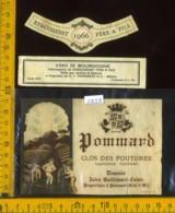 Etichetta Vino Liquore Pommard 1966- Francia - Etiquettes
