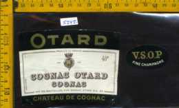 Etichetta Vino Liquore Cognac Otard- Francia - Etichette