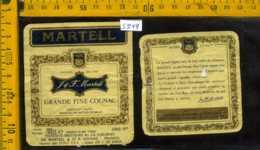 Etichetta Vino Liquore Cognac Martell- Francia - Etichette