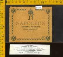 Etichetta Vino Liquore Cognac Rèserve  Napolèon - Francia - Etichette