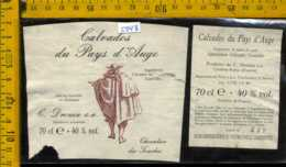 Etichetta Vino Liquore Calvados Du Pays D'Auge - Francia (piccolo Difetto) - Etichette