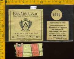 Etichetta Vino Liquore Bas-Armagnac 1972 - Francia - Etichette
