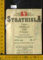 Etichetta Vino Liquore Whisky Strathisla Years 15 Old - Scozia (difetto) - Etichette