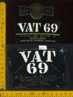 Etichetta Vino Liquore Whisky Vat 69 - Scozia - Etichette