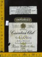 Etichetta Vino Liquore Whisky Canadian Club - Canada (forte Difetto) - Etichette