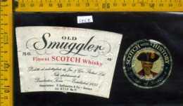 Etichetta Vino Liquore Whisky Old Smuggler  - Scozia - Etichette