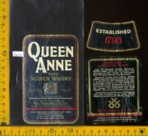 Etichetta Vino Liquore Scotch Whisky Queen Anne - Scozia (difetto) - Etichette