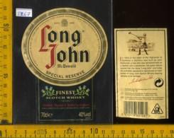 Etichetta Vino Liquore Whisky Long John - Scozia - Etichette
