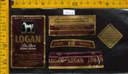 Etichetta Vino Liquore Whisky De Luxe Logan - Scozia - Etichette