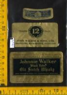Etichetta Vino Liquore Scotch Whisky Johnnie Walker - Scozia - Etichette