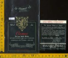 Etichetta Vino Liquore Scotch Whisky Cameo - Scozia - Etichette