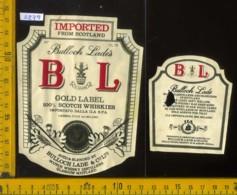 Etichetta Vino Liquore Scotch Whisky Bulloch Lades B L  - Scozia - Etichette
