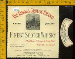 Etichetta Vino Liquore Scotch Whisky Grouse Brand  - Scozia - Etichette