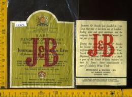 Etichetta Vino Liquore Scotch Whisky  J & B  - Scozia (difetto) - Etichette
